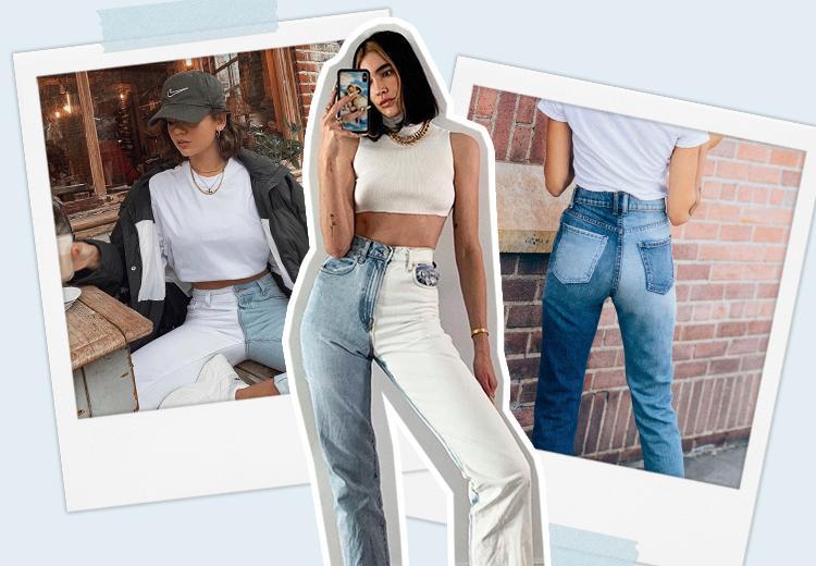 DIY: de half gebleekte jeans