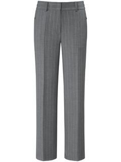 Broek met rechte pijpen en persplooien grijs