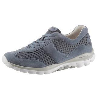 Sneakers met sleehak met mesh-inzetten