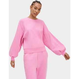 Brook Balloon Sleeve Truien voor Dames in Chiffon Pink