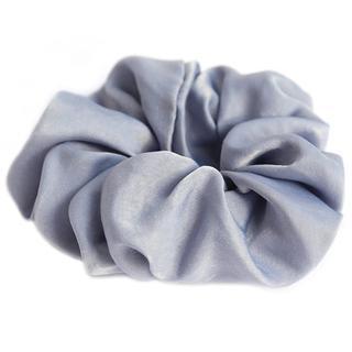 Scrunchie zijde light blue