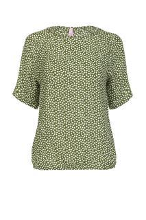 Dames Blouse dots groen