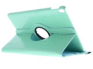 360° Draaibare krokodil Bookcase voor iPad Pro 10.5 / Air 10.5 - Turquoise