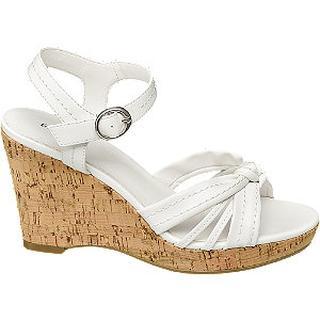 Witte sandalette gesp