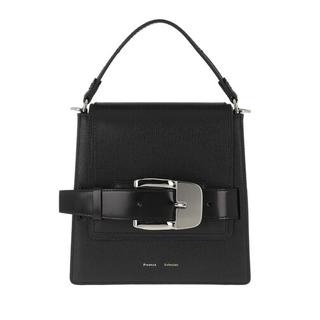 Satchels - Buckle Trapeze Bag Calfskin in zwart voor dames