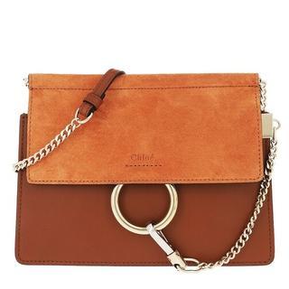 Crossbody bags - Faye Mini Flap Shoulder Bag in dark brown voor dames