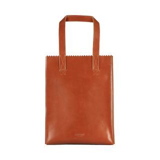 My Paper Bag Long Handle Zip - Hunter Waxy Cognac