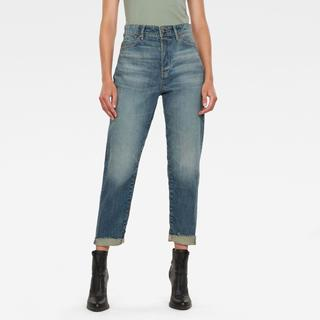 Janeh Ultra High Mom Ripped Edge Ankle Jeans C - Straight Fit - Taillehoogte Ultrahoog