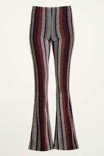 Glitter flared broek multikleur