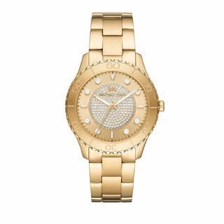 Horloges - Runway Three-Hand Stainless Steel Watch in goud voor dames