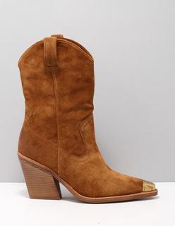 34139 laarzen dames bruin c1606 cognac suede