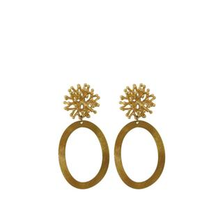 Gold Coral Hoops