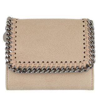 Portemonnees - Falabella Small Flap Wallet Shaggy Deer in wit voor dames
