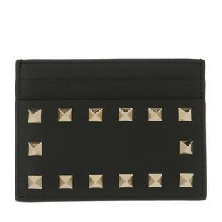Portemonnees - Card Holder Leather in zwart voor dames