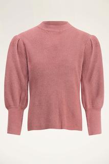 Roze trui met ballonmouwen