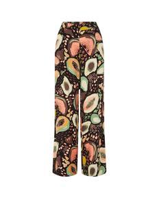 Frutti high waist wide fit palazzo broek met print