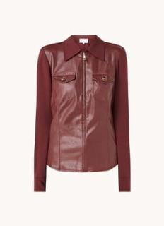 Kadie blouse van imitatieleer met halve rits