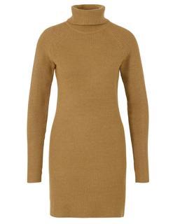 Viril Knit Rollneck Rib Dress - Fav 14049299 Gebreide jurk Ril met col 14049299