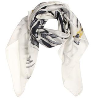 Dames Sjaals in Zijde (Wit)