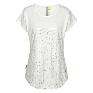 T-shirt ClaraAK in two-in-one-look met all-over miniprint