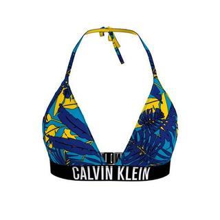 Triangel-bikinitop met tropical-print