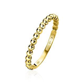 Gold 14 karaat gouden aanschuifring bol ZGR145