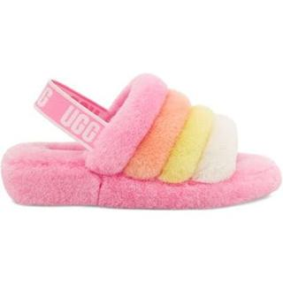 Fluff Yeah Logo Slide voor Dames in Sachet Pink Multi