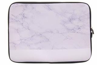 Universele wit marmer design sleeve 15 inch