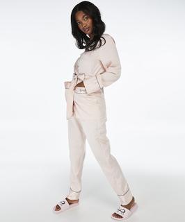 Pyjamabroek Satin Bow Roze