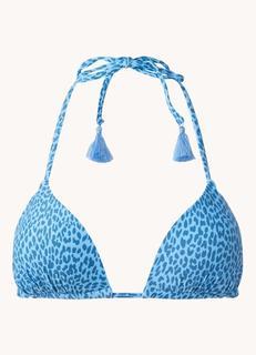 Bathers voorgevormde triangel bikinitop met panterprint