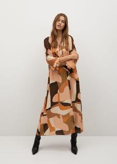 Soepelvallende jurk met print