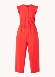 Straight fit cropped jumpsuit met steekzakken