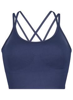Padded Sport Bh - Naadloos Donkerblauw (donkerblauw)