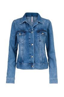 Dames Jeans jack blauw Lange mouw