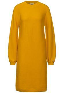 Fijngebreide jurk in effen kleur