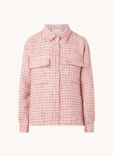 Litta overshirt van tweed met klepzakken