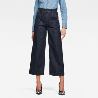 Eyevi High Wide Leg Ankle Jeans - Wide Fit - Taillehoogte Hoog