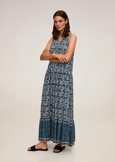 Lange paisley-jurk
