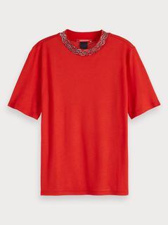 T-shirt met bandanaprintdetail