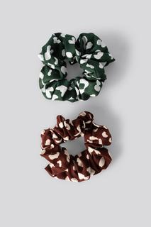 Double Pack Patterned Scrunchies