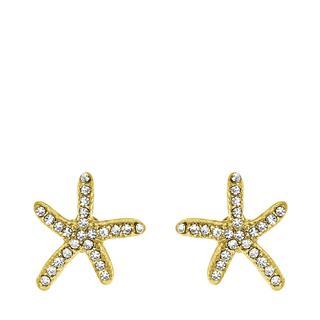 Goudkleurige byoux oorbellen met zeesterren