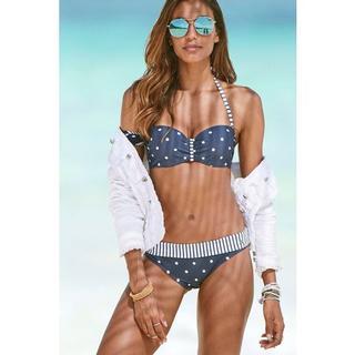 Bikinibroekje AUDREY met omslagband en motievenmix