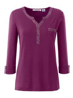 Classic Inspirationen shirt met opgestikte glitterband