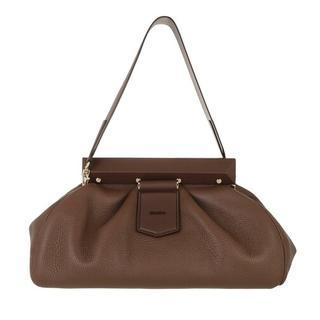 Satchels - Clutch Handbag in brown voor dames