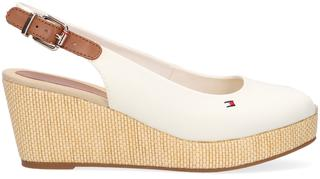Witte Espadrilles Iconic Elba Sling Back Wedge