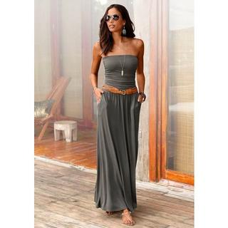 maxi-jurk met smalle top
