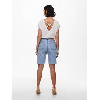 high waist bermuda jeans ONLFINE light blue denim