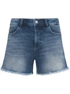 Jeansshort in 5-pocketsmodel met pas achter denim