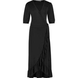 Margit wrapp dress black jersey