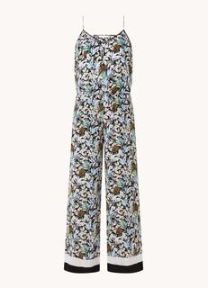 Pioni loose fit jumpsuit met bloemenprint